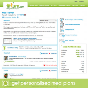 make your own diet plan online