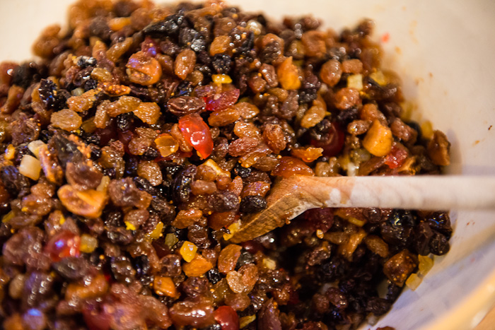 Dried Fruit in Christmas Cake
